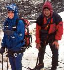 Maria und Volker nach dem Wetterumbruch, es war plötzlich Winter