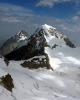 Der Mönch, Gipfel im Berner Dreigestirn in den Berner Alpen