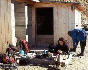 Mont Blanc -  Rast am Adlernest, Bahnstation Le Nid d'Aigile