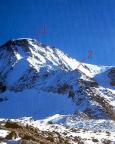 Mont Blanc -  einige Meter über dem Adlernest beim Aufstieg zur Rousse-Hütte