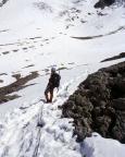 Mont Tondu - Nordostflanke - beim Abstieg über die Aufstiegsroute
