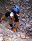 Mont Tondu - Nordostflanke - Schutthalde auf den Gletscher