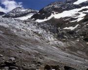 Mont Tondu - Nordostflanke, Blick zum Eisbruch von Tré-la-Grande