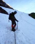 Mont Tondu - auf den ersten steilen 200 hm in der Nordostflanke