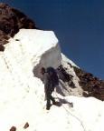 Finailspitze Nordostgrat - Wechten auf den letzten Metern zum Gipfel