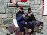 Nach der Ankunft auf der Rothornhütte, knapp 3200 m hoch