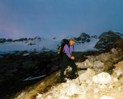 Aufstieg von der Rifugio Pian dei Fiacconi zur Marmolada Nordwand