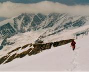 Rückmarsch zur Hütte nach Besteigung des Eiswandbichl