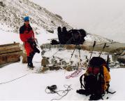 Ankunft am Gamsgrubenweg, Ablegen der Seilsicherung