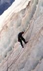 Die Seile waren durch professionelle Bergführer bereits eingehängt worden
