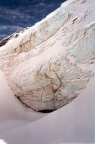 Pitztaler Eisarena – Blick beim Zustieg in die Wand der Gletscherspalte
