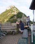 Roßstein, gesehen von der Terrasse der Tegernseer Hütte