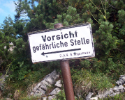 Klettersteig zur Tegernseer Hütte, deutlich kürzerer Weg