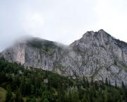 Roßstein und Buchstein beim Anmarsch zum Berggasthaus Tegernseer Hütte