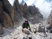 Kurz vorm Gipfelglück an der Cima Tosa
