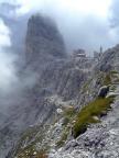 Pedrotti-Hütte in Sichtweite
