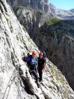 Rifugio Velo della Madonna – auf dem Klettersteig zur Hütte