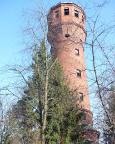 Der Wasserturm der ehemaligen Heeresforschungsanstalt für Waffensysteme