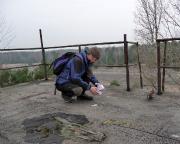 Auf dem Tower des ehemaligen Militärflugplatzes Sperenberg