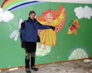 In der Schule der ehemaligen Wohnsiedlung der Sowjetarmee