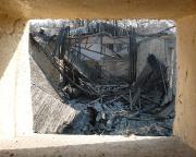 Blick in den eingestürzten Kinosaal
