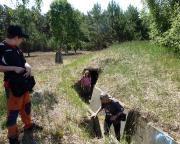 Lost Place Geocache Bewegung Soldat - chemischer Kampfeinsatz im Schützengraben