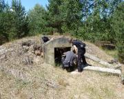 Lost Place Geocache Bewegung Soldat - chemischer Kampfeinsatz in alten Bunkern