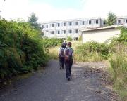 Das verlassene Hotel Mukraner Hof wird erreicht