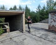 Lost Place Geocache Der Volkspolizist - auf dem Dach des Objekts