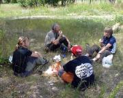 Lost Place Geocache Schüleröfen Ortrand - bei der verdienten Pause