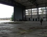 Lost Place Geocache im großen Hangar auf dem Flugplatz Sperenberg