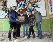 Lost Place Geocaches Russenhäuser, mit der finalen Dose