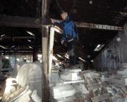 Lost Place Geocache Alte Mosaikfabrik - Lagerplatz der Sanitäranlagen