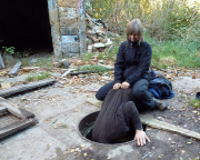 Lost Place Geocache Alte Mosaikfabrik - Hinweis im Gulli