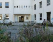Bürogebäude des Lost Place Geocache Der Brief des Ministers