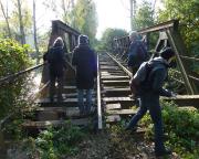 Lost Place Geocache - auf einer Brücke der Elbtalbahn