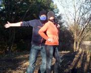 Am Fotocache Ein glückliches gesundes neues Jahr - Geocaching ist Spaß