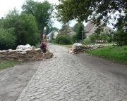 Unterwegs bei Cottbus während des Spreehochwassers