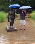 Unterwegs bei Überschwemmung in Frankfurt/Oder - Geocaching geht auch bei schlechtem Wetter