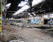 Hier wurde einst geschaffen - jetzt schaffen hier Verfall und Vandalismus