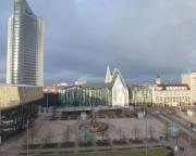 Der Augustusplatz in Leipzig, Blick aus dem Hotelfenster