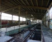 Auf der obersten Etage der ehemaligen Kohleschüttung Kraftwerk Lübbenau