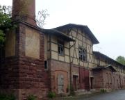 Sophienheilstätte  – Blick vom Zwischenhof zum alten Heizhaus