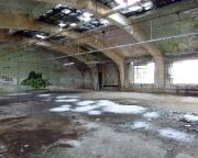Industriebaukultur, die ein Ende hat, die Zeit holt alles zurück, der Winter ist auch im Gebäude