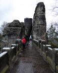Auf der Basteibrücke, knallharter Kontrast zu dem, was folgt