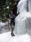 Einstieg in den Eisfall im nördlichen Uttewalder Grund
