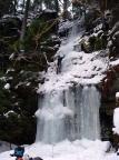 Halbzaeit am Eisfall im nördlichen Uttewalder Grund