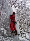 Thomas Herrmann an einem der hinteren steilen Eisfälle