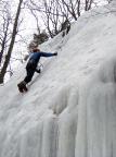 Bielatal, Aldo Bergmann am vorderen Eisfall