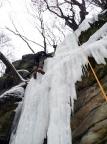 Eindrücke vom Klettern an der hohen Zentralwand und an den linken Eiszapfen